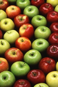 apples arranged