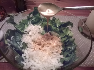 spinach and reteke salad